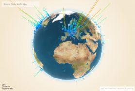 Op bitcoinglobe kan je per stad kijken hoeveel mensen er gebruik maken van bitcoin