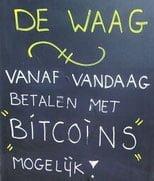 Betalen met bitcoins bij de waag