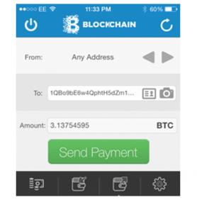 Blockchain Iphone app weer terug in de appstore