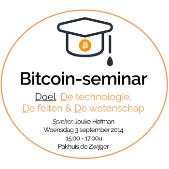 3 september 2014: Bitcoin seminar te Amsterdam
