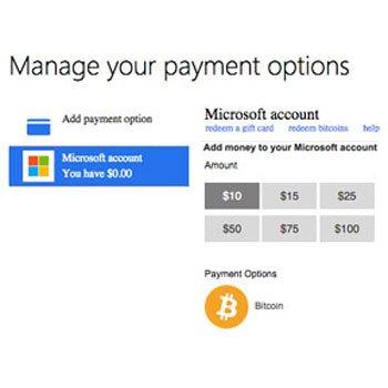 Microsoft accepteert Bitcoin betalingen
