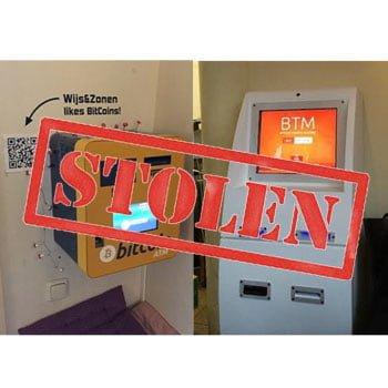 Twee Bitcoin ATM's gestolen in Amsterdam