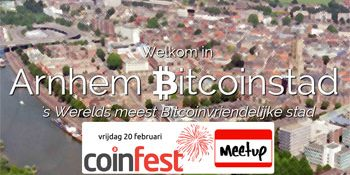 Vrijdag 20 feb: Coinfest in Arnhem Bitcoinstad