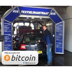 AVA autocentrum te Arnhem accepteert bitcoins.