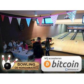 Bowling de Korenmarkt accepteert bitcoins