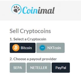 Je Paypal rekening aanvullen met Bitcoin via Coinimal