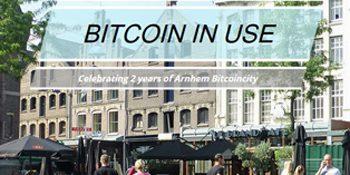 Op 28 mei bestaat Arnhem Bitcoinstad 2 jaar. Dat gaan we vieren met het evenement BitcoinInUse