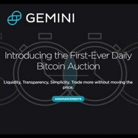 Digital-currency exchange Gemini introduceert dagelijkse Bitcoin veiling