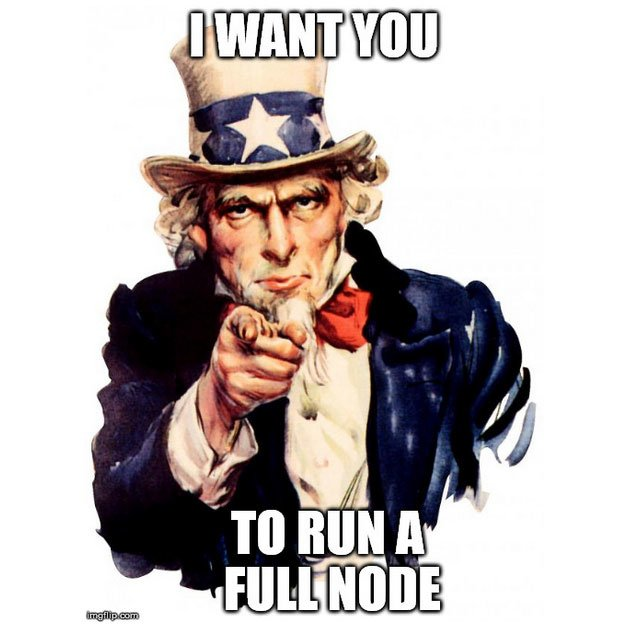 Help het Bitcoin netwerk, draai een full node!