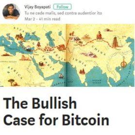'The Bullish case for Bitcoin': Hoe bitcoin geld aan het worden is.