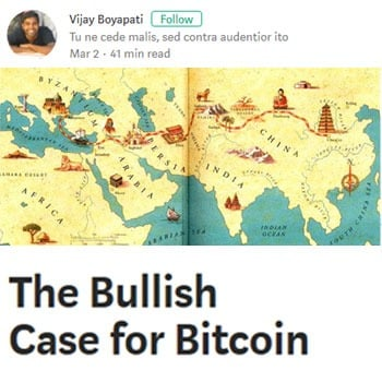 'The Bullish case for Bitcoin': Hoe bitcoin geld aan het worden is.