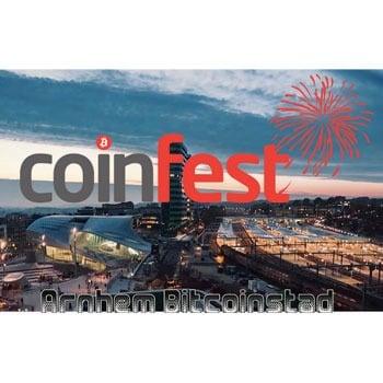 Donderdag 5 april: Coinfest 2018 in Arnhem Bitcoinstad