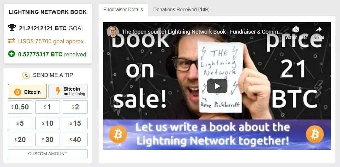 Lightning book fundraiser
