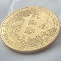 Bitcoin munt goud voor