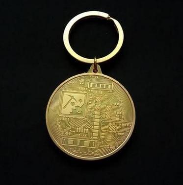 bitcoin sleutelhanger achterzijde
