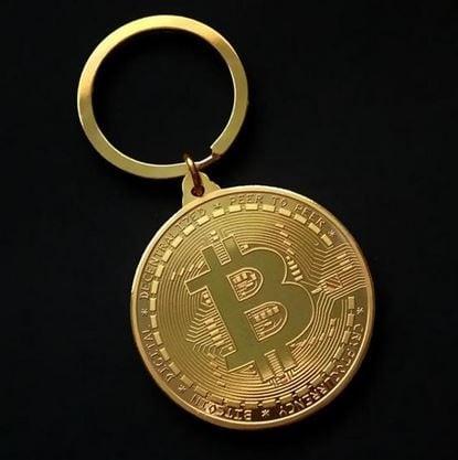 bitcoin sleutelhanger voor