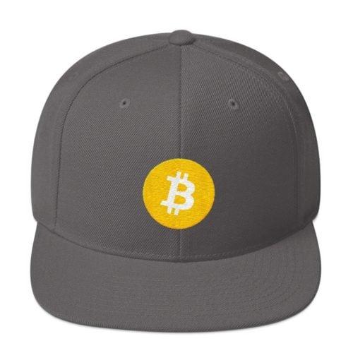 Bitcoin cap grijs
