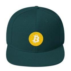 Bitcoin cap blauw