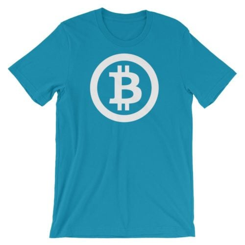 Bitcoin shirt logo blauw