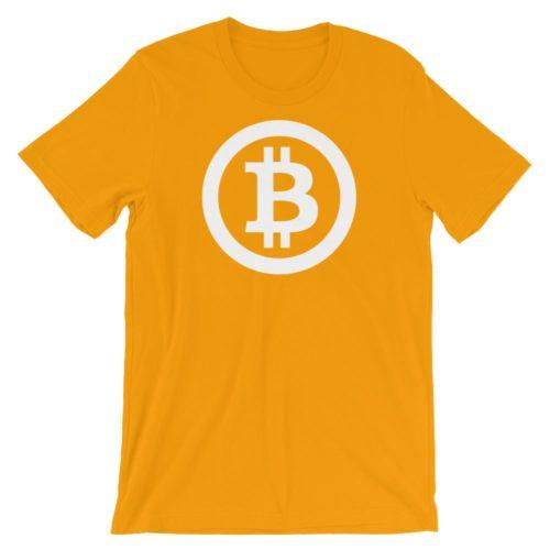 Bitcoin shirt logo oranje