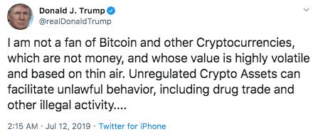Tweet Trump Bitcoin