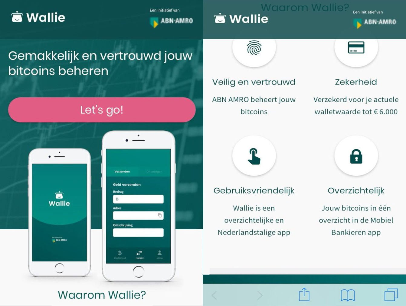 Wallie bitcoin wallet ABN AMRO
